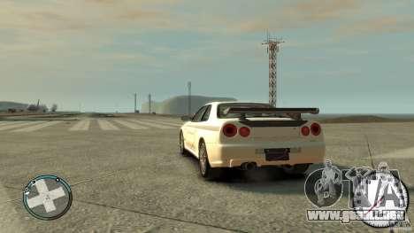 Nissan Skyline GTR R34 Mine s para GTA 4 left
