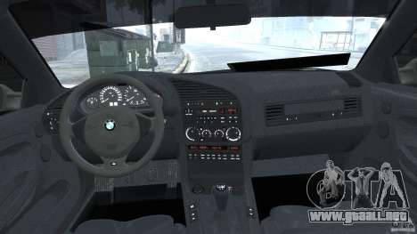 BMW e36 M3 para GTA 4 vista superior