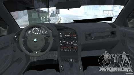 BMW e36 M3 para GTA 4 vista superior