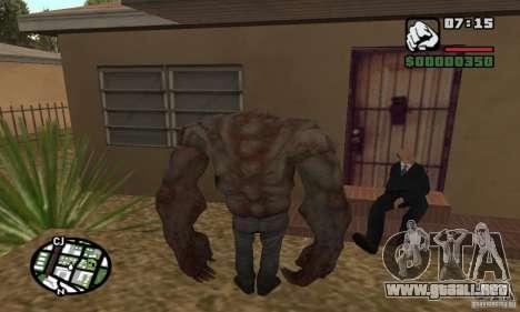 Tanque del Left 4 Dead para GTA San Andreas segunda pantalla