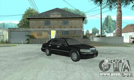 Lincoln Town Car 2002 para GTA San Andreas vista posterior izquierda