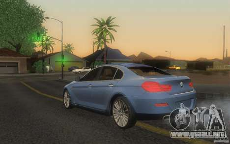 BMW 6 Series Gran Coupe 2013 para GTA San Andreas left