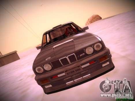 BMW M3 Drift para GTA San Andreas vista posterior izquierda