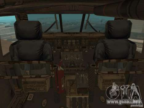 UH-60 Black Hawk para GTA San Andreas vista hacia atrás