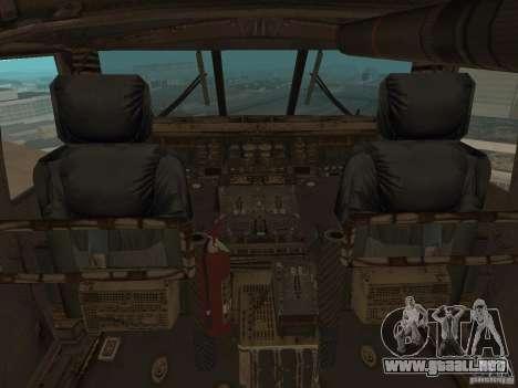 UH-60 Black Hawk para GTA San Andreas vista hacia atrás