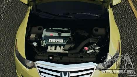 Honda Accord Type S 2008 para GTA 4 vista interior