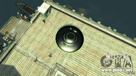 UFO neon ufo green para GTA 4 visión correcta