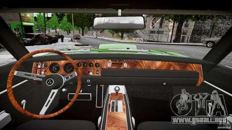 Paseo bajo de cargador Dodge RT 1969 tun v1.1 para GTA 4 vista superior