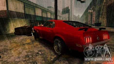 Ford Mustang BOSS 429 para GTA 4 Vista posterior izquierda