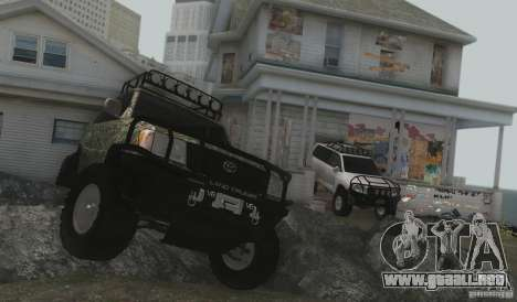 Toyota Land Cruiser 100 Off Road para GTA San Andreas vista hacia atrás