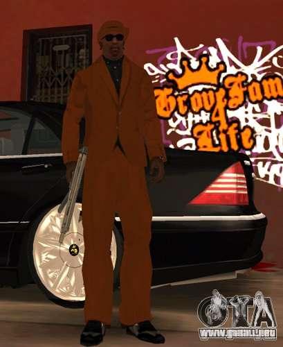Bandas de reemplazo, tatuajes, ropa, etc.. para GTA San Andreas sexta pantalla