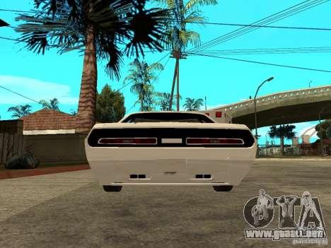 Dodge Challenger Speed 1971 para GTA San Andreas vista posterior izquierda