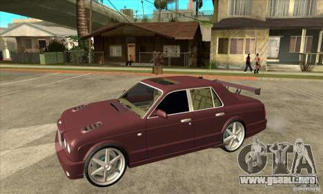 Bentley Arnage GT para visión interna GTA San Andreas