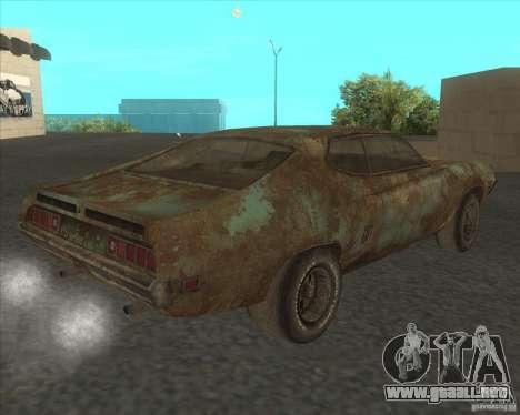 Ford Torino extreme rust 1970 para GTA San Andreas left