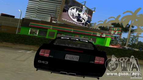 Saleen S281 Barricade 2007 para GTA Vice City visión correcta