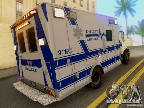 Freightliner Bone County Police Fire Medical para GTA San Andreas left