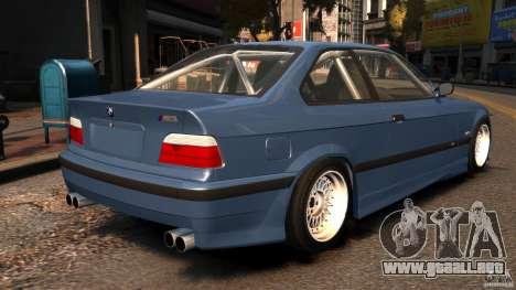 BMW M3 E36 FSC para GTA 4 Vista posterior izquierda