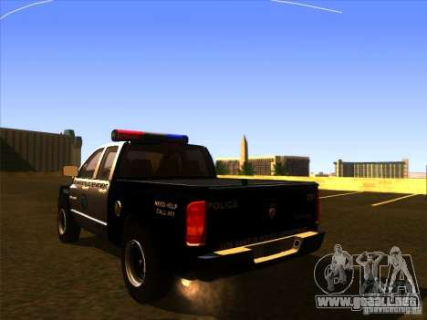 Dodge Ram 1500 Police para GTA San Andreas left