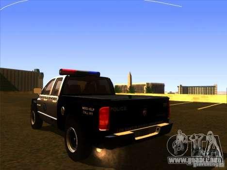 Dodge Ram 1500 Police para GTA San Andreas left