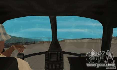 Nuevo Seaspar para GTA San Andreas vista hacia atrás
