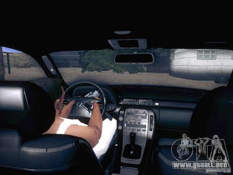 Lexus SC300 - Stock para GTA San Andreas vista hacia atrás