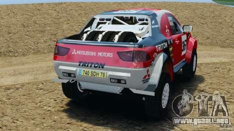 Mitsubishi L200 Triton para GTA 4 Vista posterior izquierda