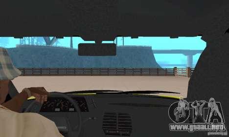 VAZ 21124 TAXI para GTA San Andreas vista hacia atrás