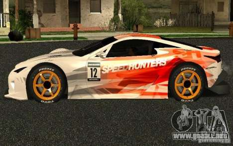 Lexus LFA Speedhunters Edition para GTA San Andreas left