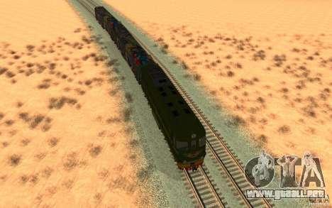 New Graffity Train para GTA San Andreas vista hacia atrás