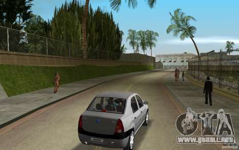 Dacia Logan 1.6 MPI para GTA Vice City visión correcta