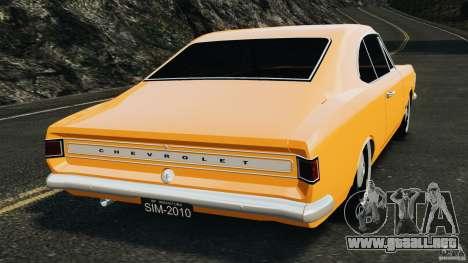 Chevrolet Opala Gran Luxo para GTA 4 Vista posterior izquierda
