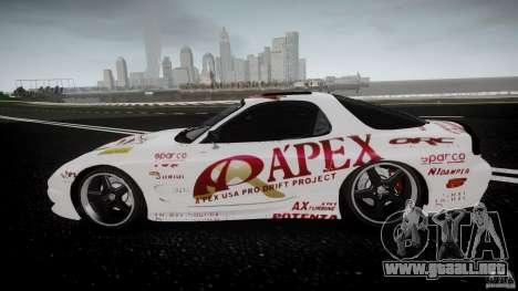 Mazda RX7 FD Apex Imamura para GTA 4 left