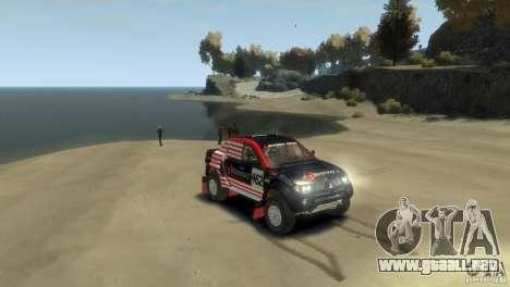 Mitsubishi L200 Rally para GTA 4 visión correcta