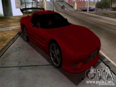 Chevrolet Corvette C5 para visión interna GTA San Andreas