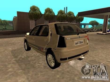 Fiat Palio 1.8R para la vista superior GTA San Andreas