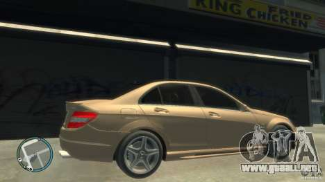 Mercedes-Benz C63 para GTA 4 vista interior
