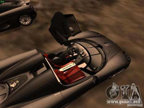 Koenigsegg CCXR Edition para la vista superior GTA San Andreas