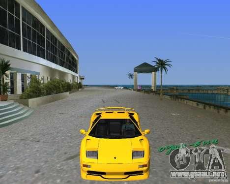 Lamborghini Diablo SV para GTA Vice City vista lateral izquierdo