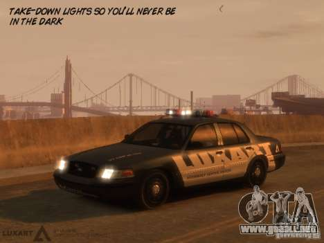 EMERGENCY LIGHTING SYSTEM V6 para GTA 4 tercera pantalla