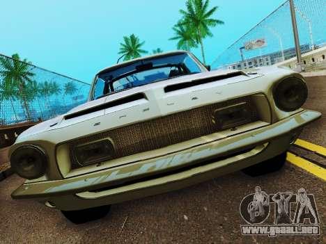 Shelby GT 500 KR para visión interna GTA San Andreas