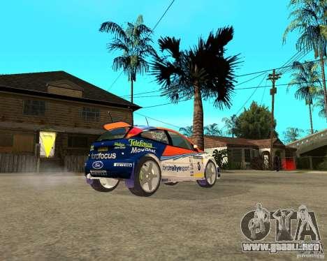 Ford Focus WRC 2002 para GTA San Andreas vista posterior izquierda