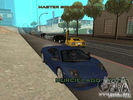 Lamborghini Murcielago LP640 para GTA San Andreas vista hacia atrás