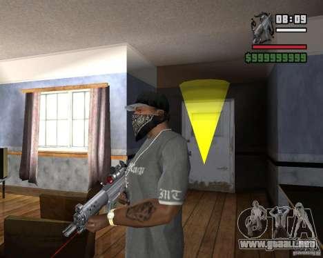 Mira de rifle láser para GTA San Andreas segunda pantalla