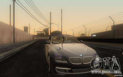 BMW 6 Series Gran Coupe 2013 para visión interna GTA San Andreas