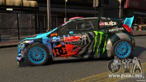 Ford Fiesta Rallycross Ken Block (Hoonigan) 2013 para GTA 4 left