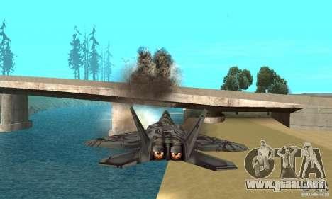 F-22 Starscream para GTA San Andreas interior