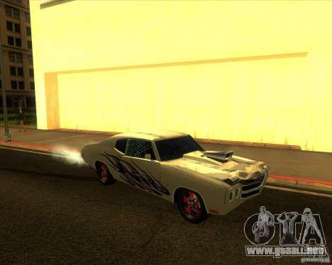 Chevy Chevelle SS Hell 1970 para GTA San Andreas vista hacia atrás