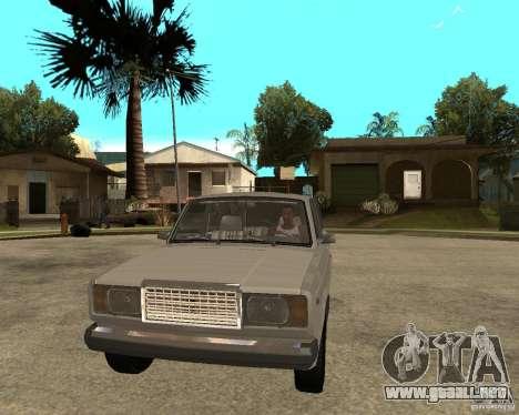 VAZ 21047 para GTA San Andreas vista hacia atrás