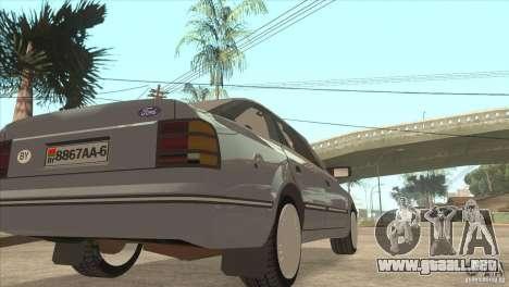 Ford Scorpio para GTA San Andreas vista hacia atrás