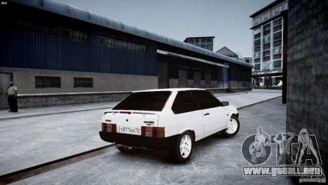 VAZ 21083i para GTA 4 vista hacia atrás